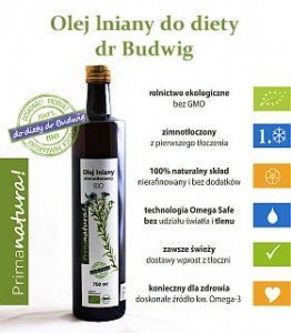 Olej lniany do diety dr Budwig